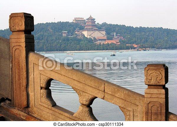 Vista desde el palacio de verano, Beijing, China - csp30111334