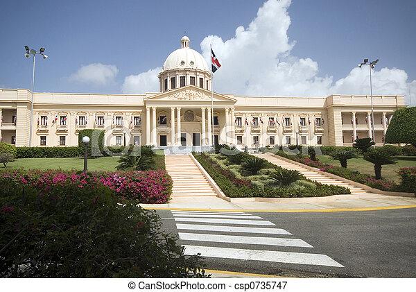 palacio nacional the national palace santo domingo dominican republic beautiful government building - csp0735747