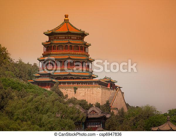 palais été, beijing - csp6947836