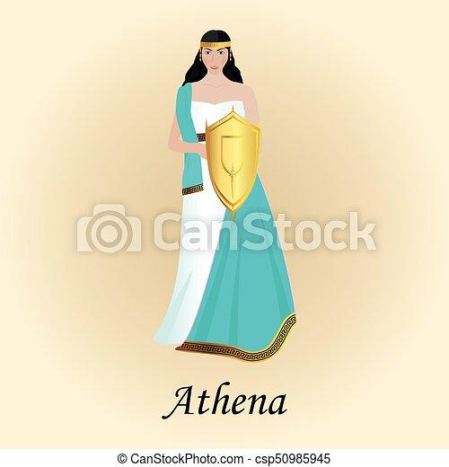 Palas Athena Minerva Goddess Of Wisdom Greek Roman