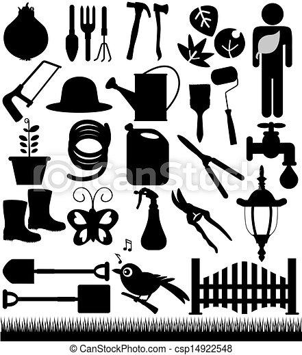 Palas, palas y herramientas de jardín - csp14922548