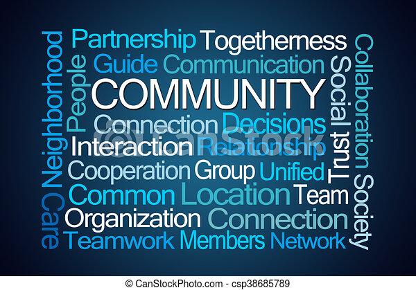 palavra, comunidade, nuvem - csp38685789