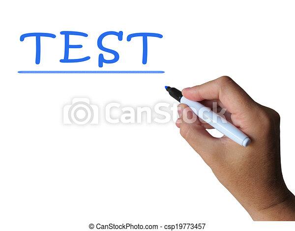 palavra, meios, marca, exame, teste, avaliação - csp19773457