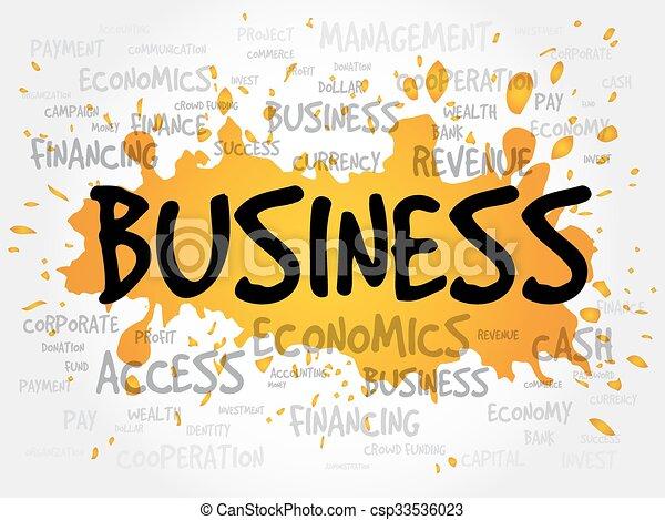 palavra, negócio, nuvem - csp33536023