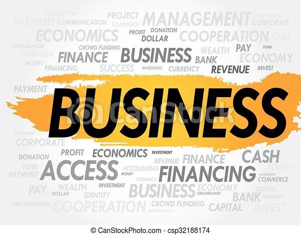 palavra, negócio, nuvem - csp32188174