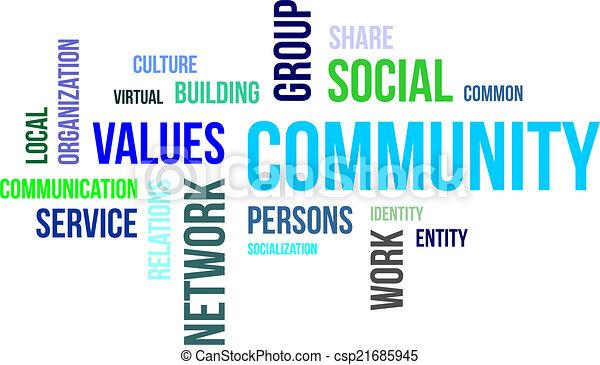 palavra, -, nuvem, comunidade - csp21685945