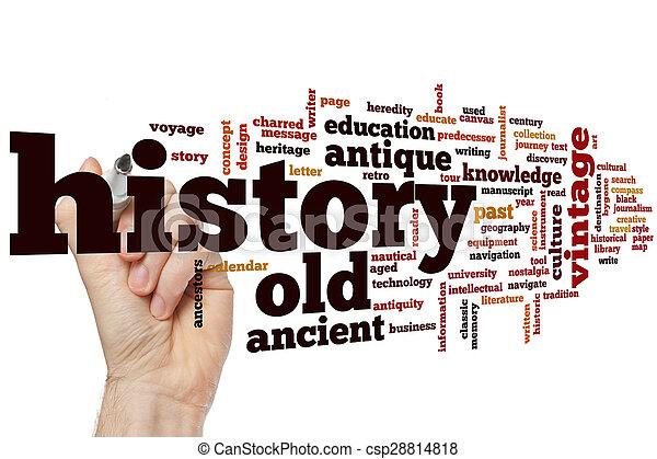 palavra, nuvem, história - csp28814818