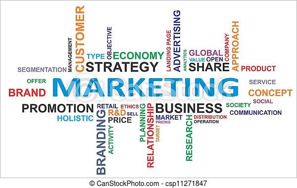 palavra, -, nuvem, marketing - csp11271847