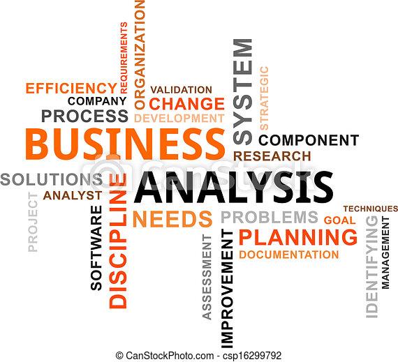 palavra, nuvem, -, negócio, análise - csp16299792