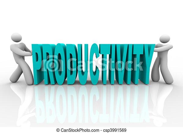 palavra, pessoas, -, junto, empurrão, produtividade - csp3991569