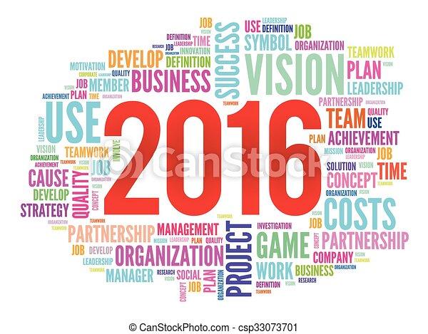 palavra, projeto, metas, plano, 2016, nuvem - csp33073701