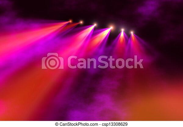 palcoscenico, illuminazione - csp13308629