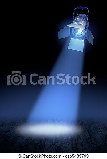 palcoscenico, riflettore, splendore - csp5483793