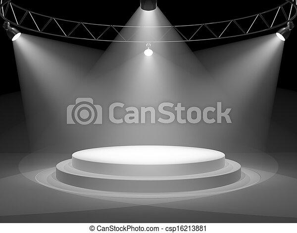 palcoscenico vuoto - csp16213881