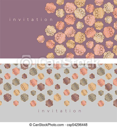 Pale blossom elegant floral pattern for wedding projects spring pale blossom elegant floral pattern for wedding projects spring invitation vector illustration with geometric decorative sakura or almond flowers in stopboris Choice Image