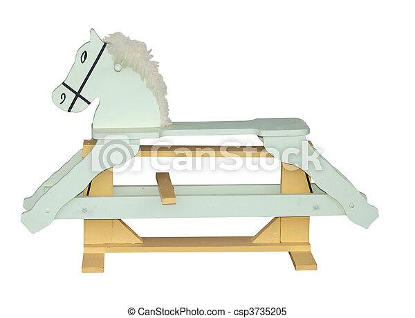 Pale Green Rocking Horse - csp3735205