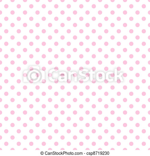 Pale Pink Polka Dots on White - csp8719230