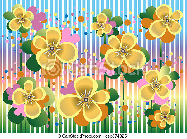 Pale yellow flowers in a colorful b pale yellow flowers and pale yellow flowers in a colorful b csp8743251 mightylinksfo Choice Image