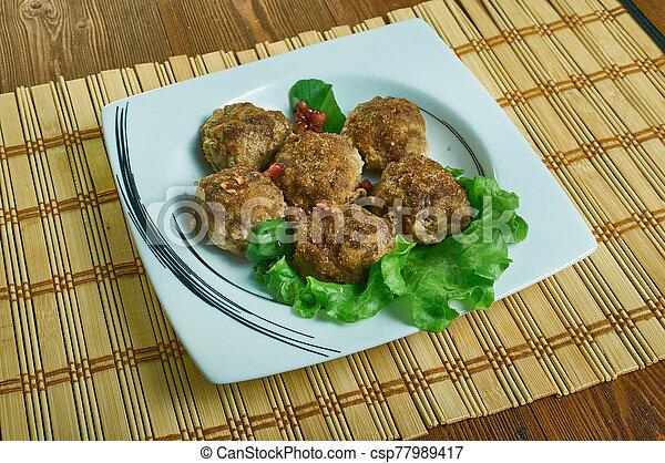 paleo, polpette carne, salisbury, bistecca - csp77989417