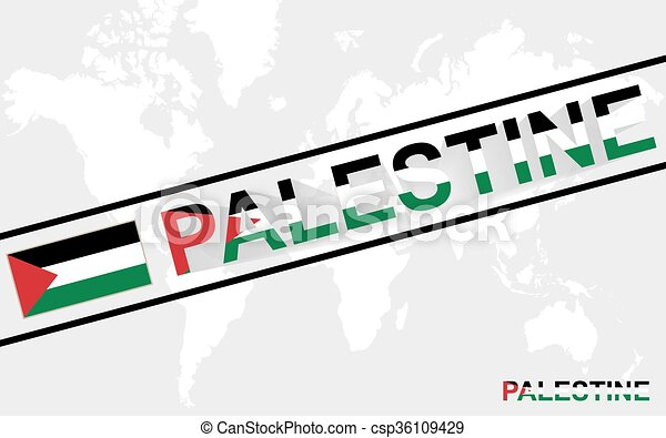 Palestine map flag and text illustration on world map vector palestine map flag and text illustration gumiabroncs Choice Image