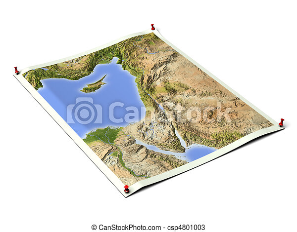 Palestine on unfolded map sheet. - csp4801003