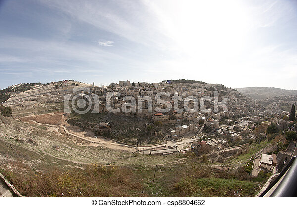 Palestinian village in East Jerusalem in Israel - csp8804662