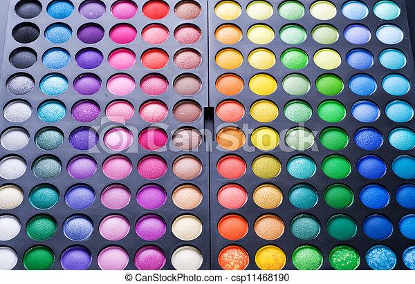 palet, oog, set., veelkleurig, make-up, professioneel, schaduw - csp11468190