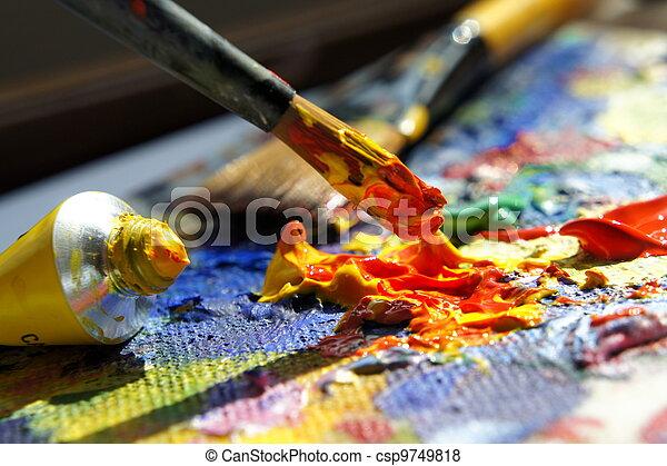 paleta, arte - csp9749818