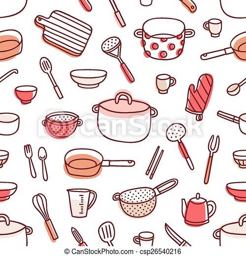 Paleta patr n cocina seamless utensilios bater a de for Utensilios de cocina logo