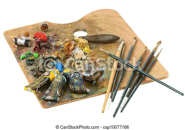 palette, artiste - csp10077166