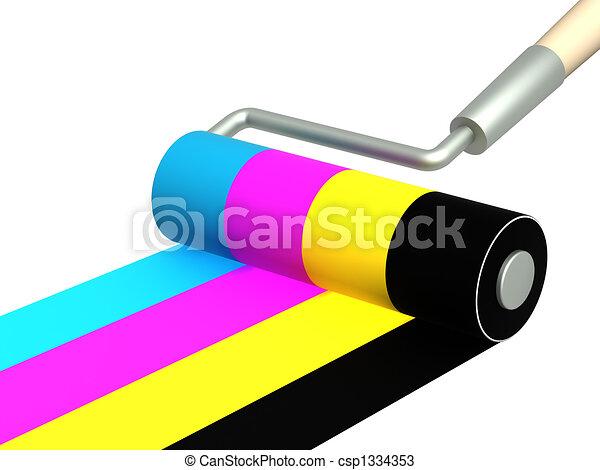 Palette CMYK - csp1334353
