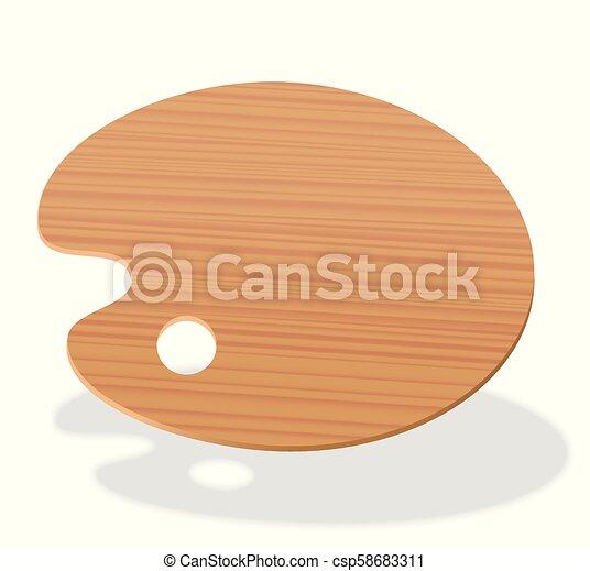 Palette Empty Blank Painting Wood Board
