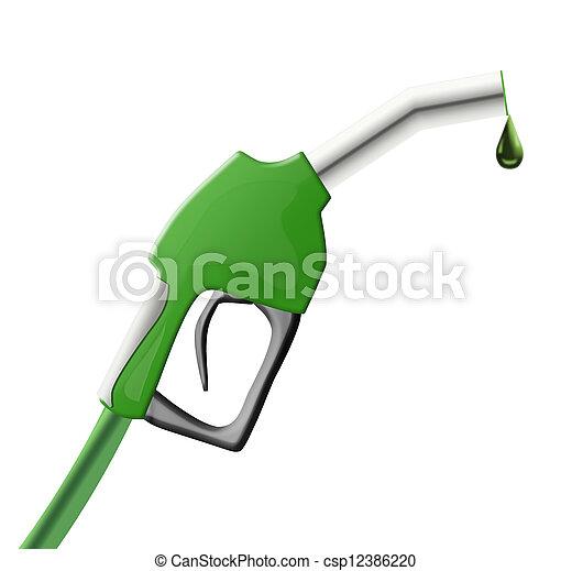 paliwowa pompa, zielony, armata - csp12386220