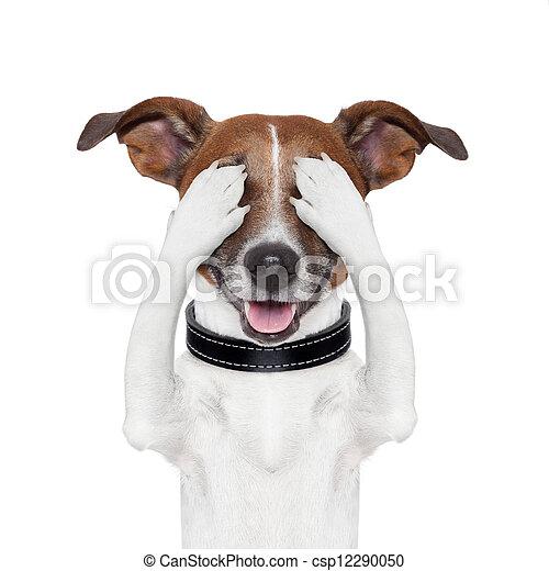 Escondiendo perro guardián - csp12290050