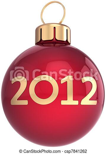 palla, anno, nuovo, 2012, natale, felice - csp7841262