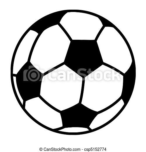 palla, calcio, delineato - csp5152774