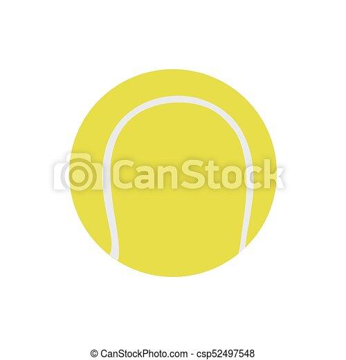palla, illustration., tennis, isolato, oggetto, gioco, vettore, bianco, sport, icona - csp52497548