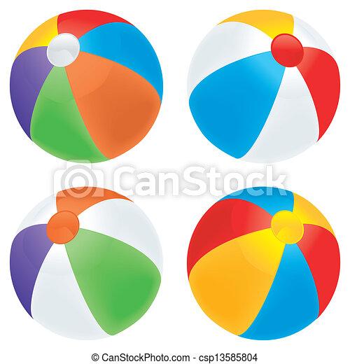 palla, spiaggia, varietà - csp13585804