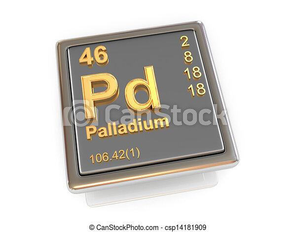 Palladium Chemical Element 3d Stock Illustration Search Clipart