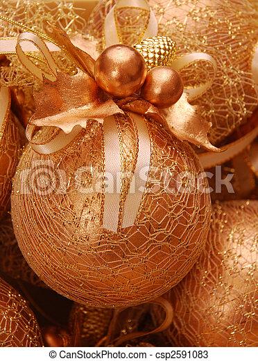 palle, natale, oro - csp2591083