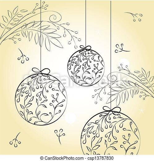 Disegni Di Palline Di Natale.Decorazioni Palline Di Natale Disegno