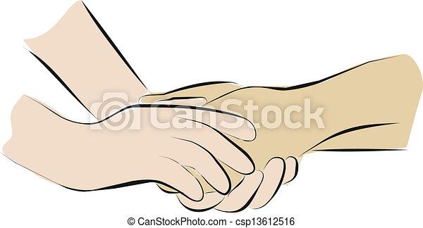 palliative, 把握, 心配, 手 - csp13612516