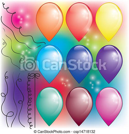 palloni, set, fili, colorito, aria - csp14718132
