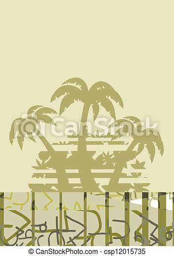 Palm holidays wallpaper - csp12015735