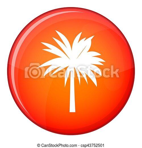 Palm icon, flat style - csp43752501