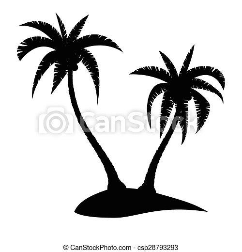 palm island palm trees silhouette on tropical island eps rh canstockphoto com island vector free island vector free