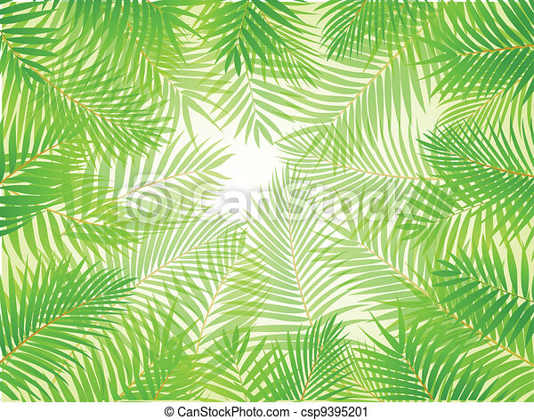 Palm leaf background  - csp9395201