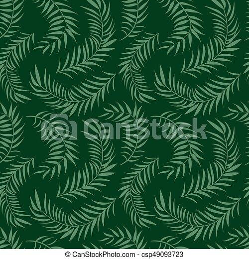 Palm Leaf Pattern Vector Illustration Decor Element