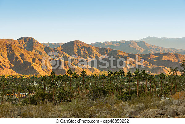 Palm Springs and San Jacinto Mountains - csp48853232