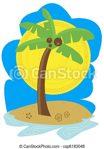 Palm Tree Beach - csp6183048